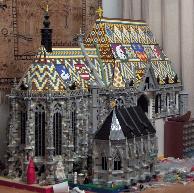 Lego copy of St.Stephan's cathedral in Vienna - Wow!  Mozart's funeral was held here.