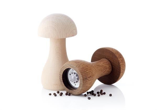 Applicata FUNGHI kværne - lys til salt og mørk til peber