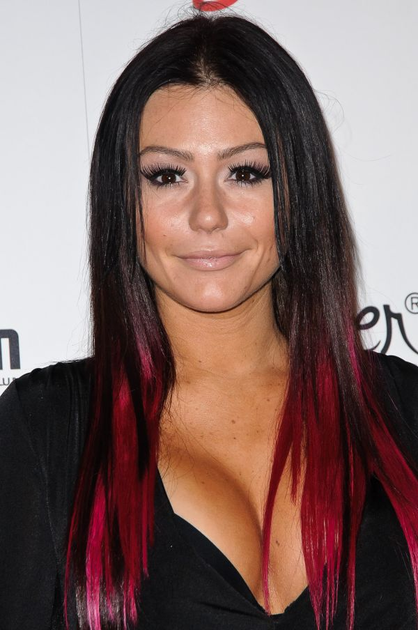 JWOWW's hair. Black with red tips I love her hair.
