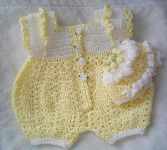 0005B. Baby Boy Crochet Bubble Suit Reversible by AlwaysCreateSeed