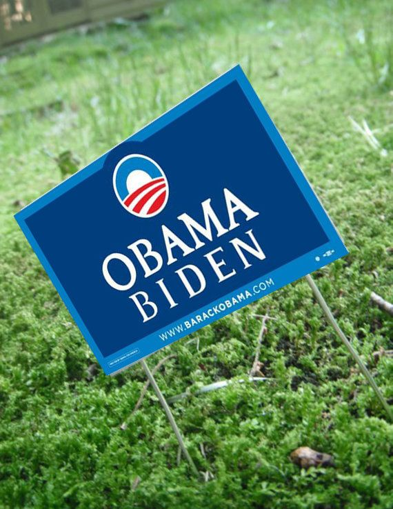 Miniature Political Yard Sign Tom Small by LDelaney on Etsy