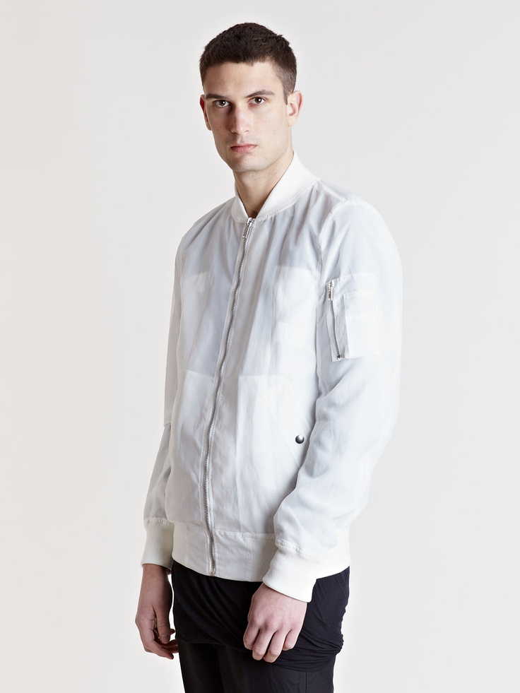 White Mens Bomber Jacket | Outdoor Jacket