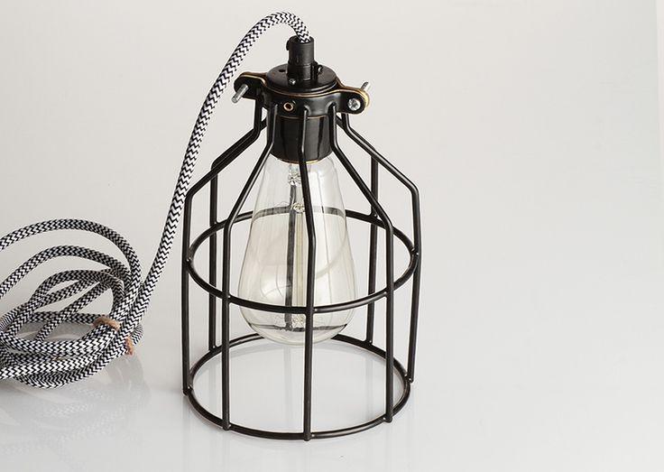 Lampa z klatką czarną | sklep z lampami bylight.pl