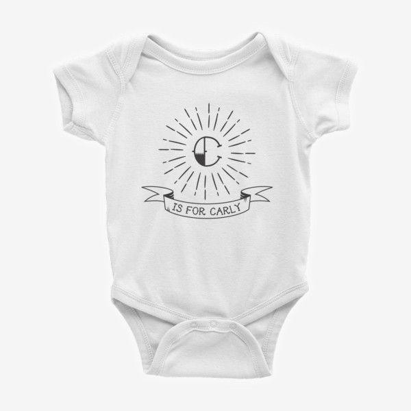 Personalised Monogram Custom Baby Bodysuit