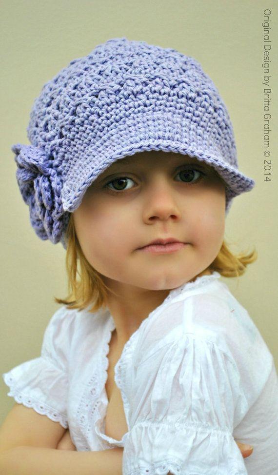 Crochet Hat Pattern Teenager : Crochet Hat Pattern - Newsboy Pattern for girls in baby ...