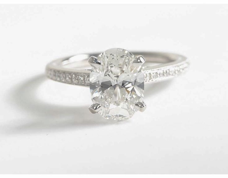 2 Carat Diamond Heirloom Petite Cathedral Pavé Diamond Engagement Ring   Blue Nile Engagement and Wedding Rings
