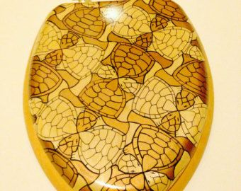 harvest gold toilet seat. Toilet Seat Handmade Illustrated Stained MC Escher  Cape Town Turtle 10 best Ugly harvest gold bathroom remedies images on Pinterest