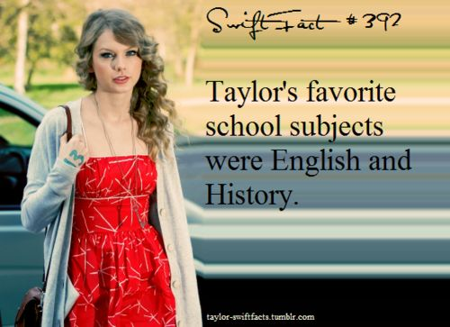 Omg this is the third fact I have found of Taylor that I share in common with her... <3