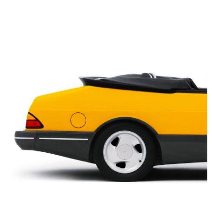 #car #saab #iconic #nice #bucketlist #swimmingpool #driving #summer #yellowcar