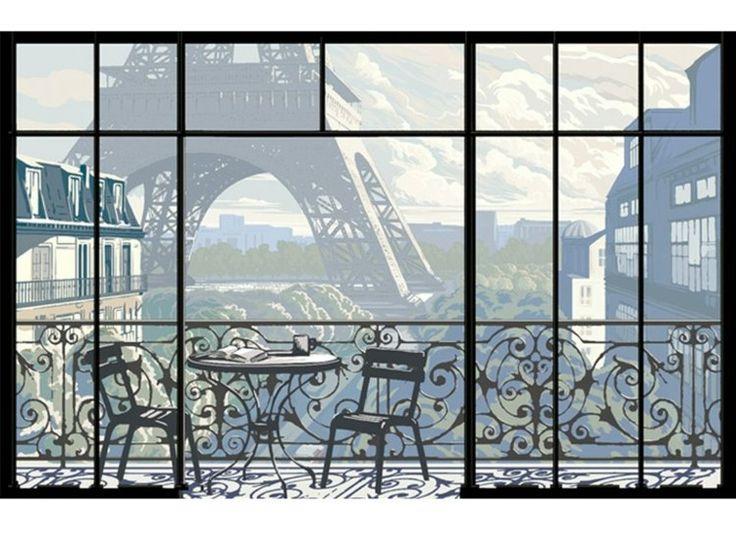 papier peint trompe l'oeil déco par Papiers de Paris
