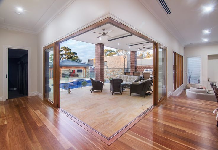 Timber Stacker Doors Create An Open Corner To Outside