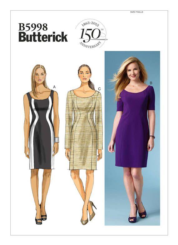 Brand New Butterick B6448 PATTERN Misses Dress Size 6-22