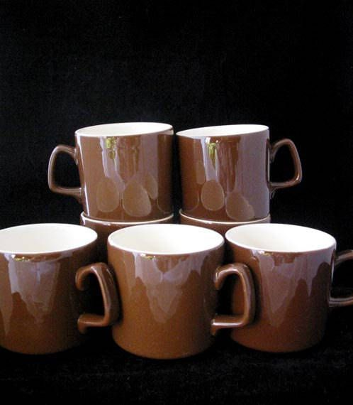 Royal China USA Brown Coffee Cups Brown Coffee Cup Set Mid
