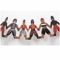 Little Boo-Teek - Clocks, Lighting & Decor Papercat Paper Dolls Bunting - Pirate $11.95  www.littlebooteek.com.au #littlebooteek #presents #kids #baby