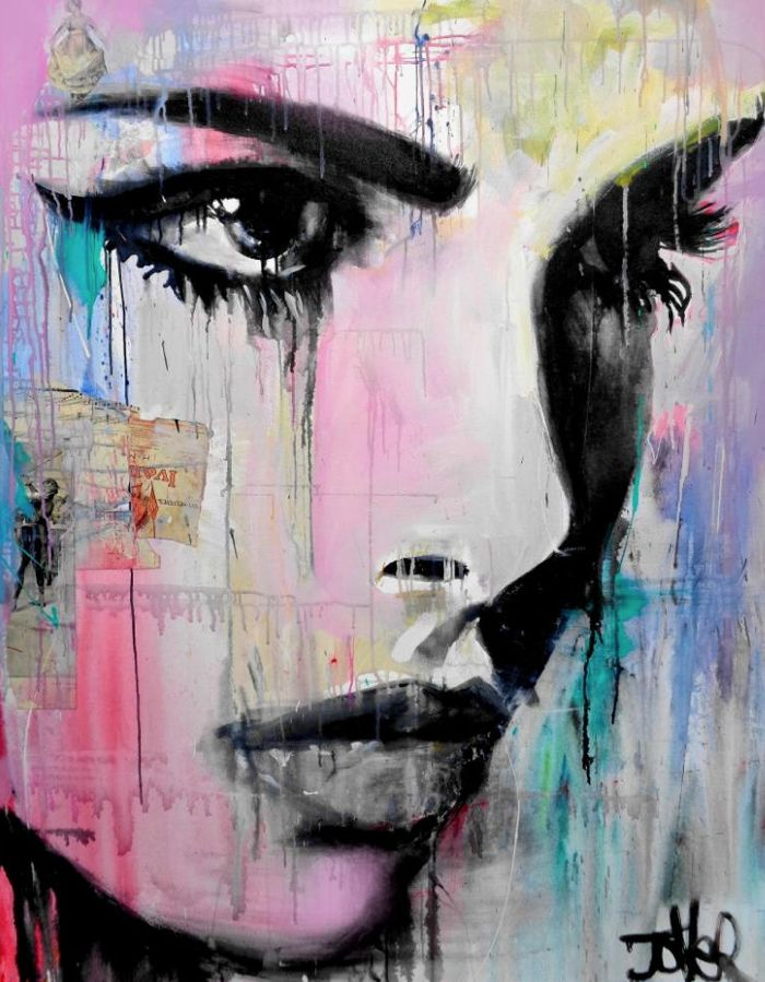 "ARTIST SPOTLIGHT – LOUI JOVER: ""tempest""; Painting; 57.1H x 43.3W x 1.8 in, $3000"