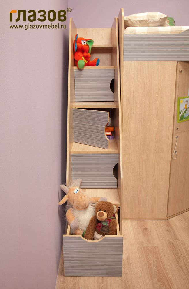 Лестница для двухъярусной кровати в детскую. Детская КАЛЕЙДОСКОП.