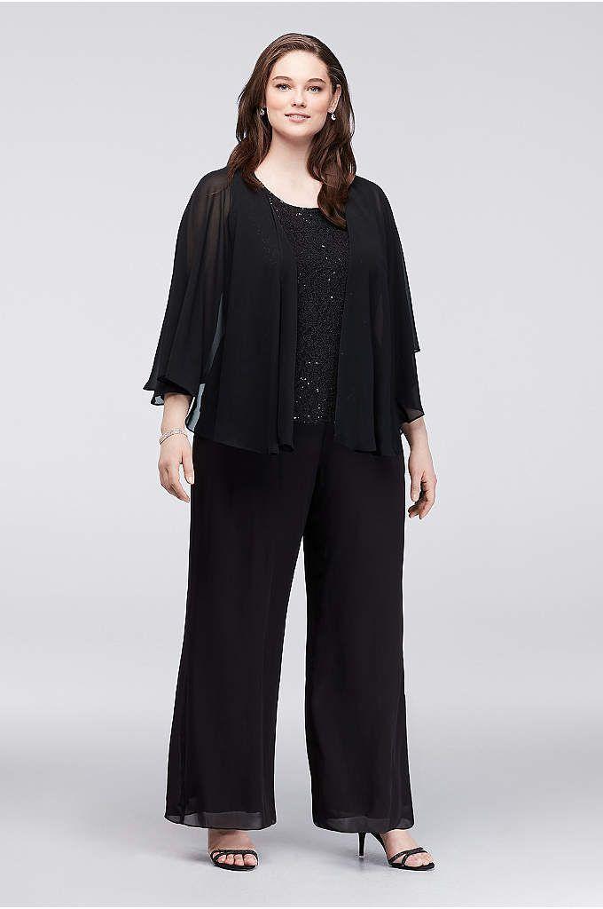 Plus Size Two Piece Pant Suit