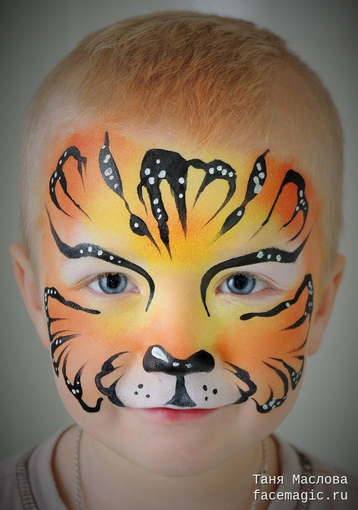 Little tiger. Face paint by Tanya Maslova.