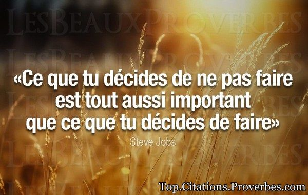 Je suis le produit de mes décisions - Stephen Covey...