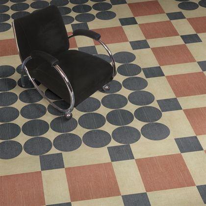 Vinyl Tile Floor With Fab Streamline Chair