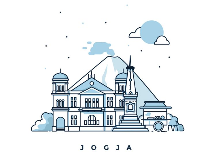 Line Art Jogja : Best illustration images on pinterest icon design