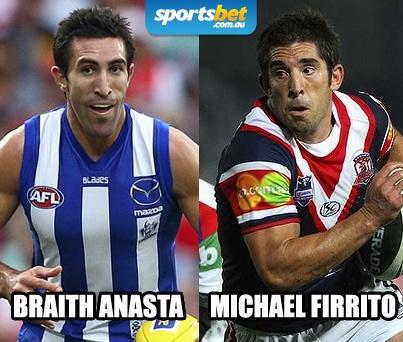 Look Alikes - Braith Anasta and Michael Firrito - Sportsbet.com.au