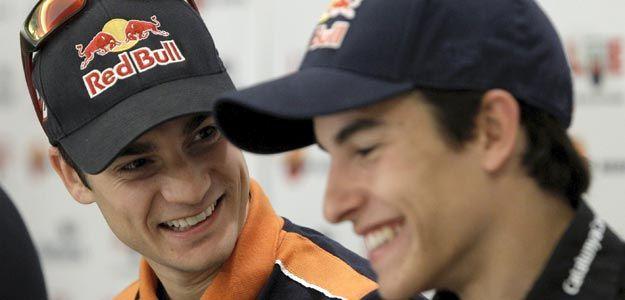 Los pilotos españoles Dani Pedrosa y Marc Márquez