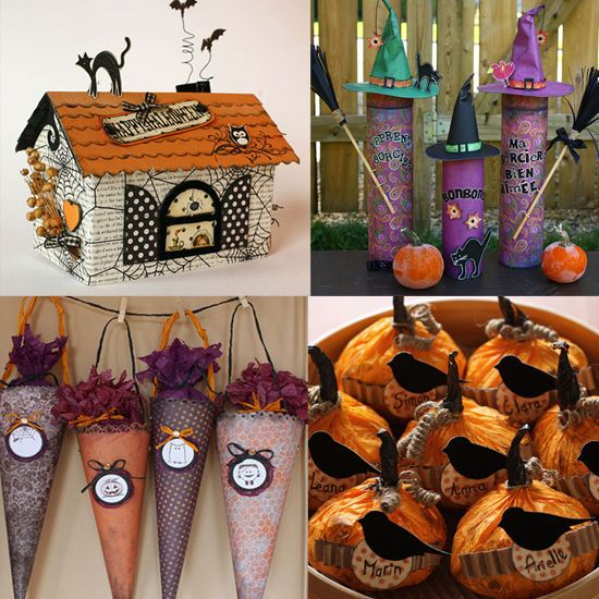 17 best images about boites on pinterest favor boxes - Fabriquer un sac pour halloween ...