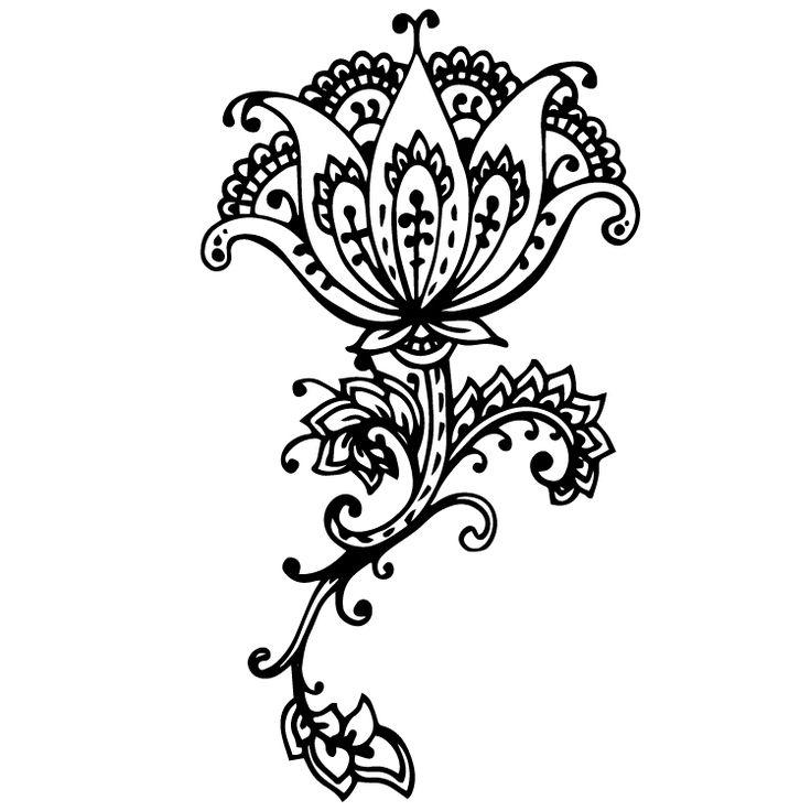 Henna Design Temporary Tattoos #631