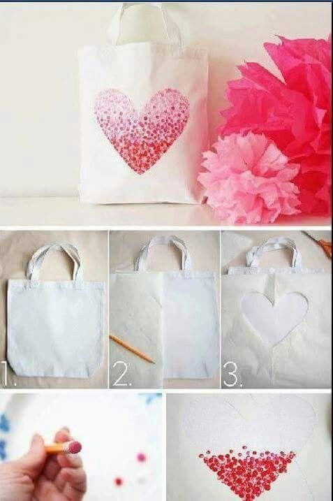 Bolso de manta, decorado con pintura