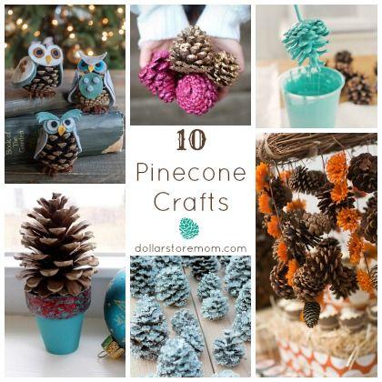 10 Pinecone Crafts | Dollar Store Mom