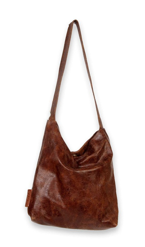 SALE Brown leather evening bag brown leather bag brown by AdaBags