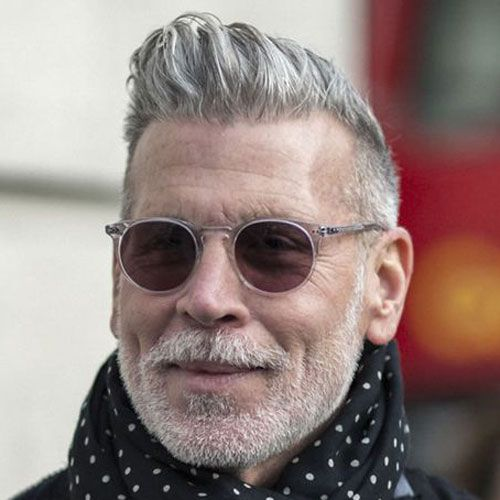 Best Hairstyles For Older Men Grey hair men Older mens
