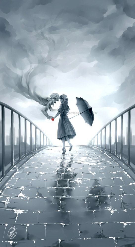 (Open Roleplay, be the girl?) I see a girl standing on the bridge tears streaming from her eyes and I decided to go help her.