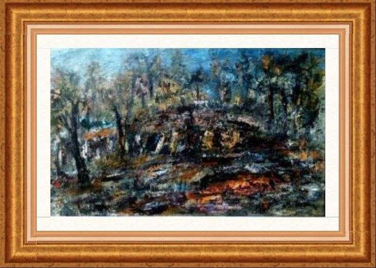 THIS PAINTING IS ORIGINAL / OIL PAINTING ON CANVAS / LISTED by SIMION MUNTEAN / #Impressionist