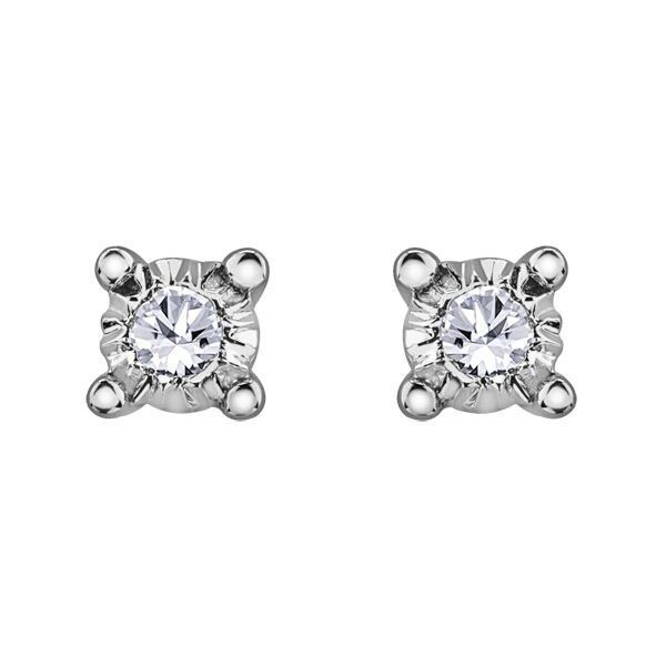 D 0.04 Rose or White Gold Dangling Earring with Diamond in 14k Yellow