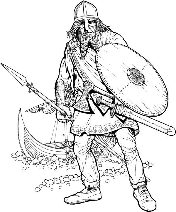 21 best mytologi images on Pinterest History, Coloring books and - new football coloring pages vikings
