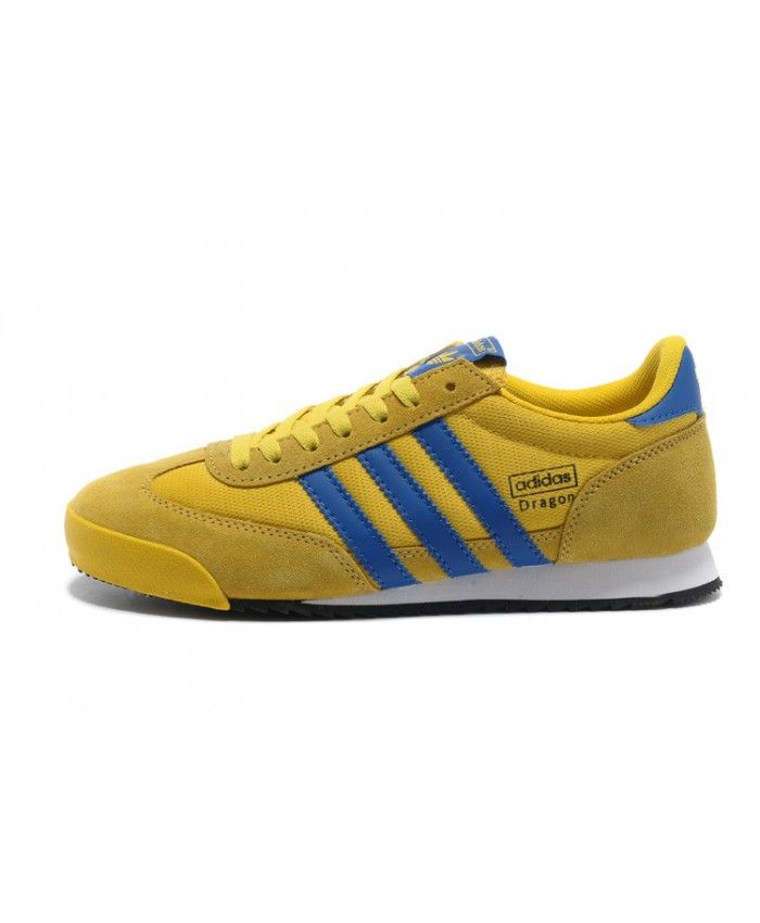 880373605c18 Adidas Dragon Yellow Blue Trainers Size US11