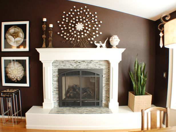 Fireplace--I love it. Can't to have a fireplace that we designed not that we moved into!