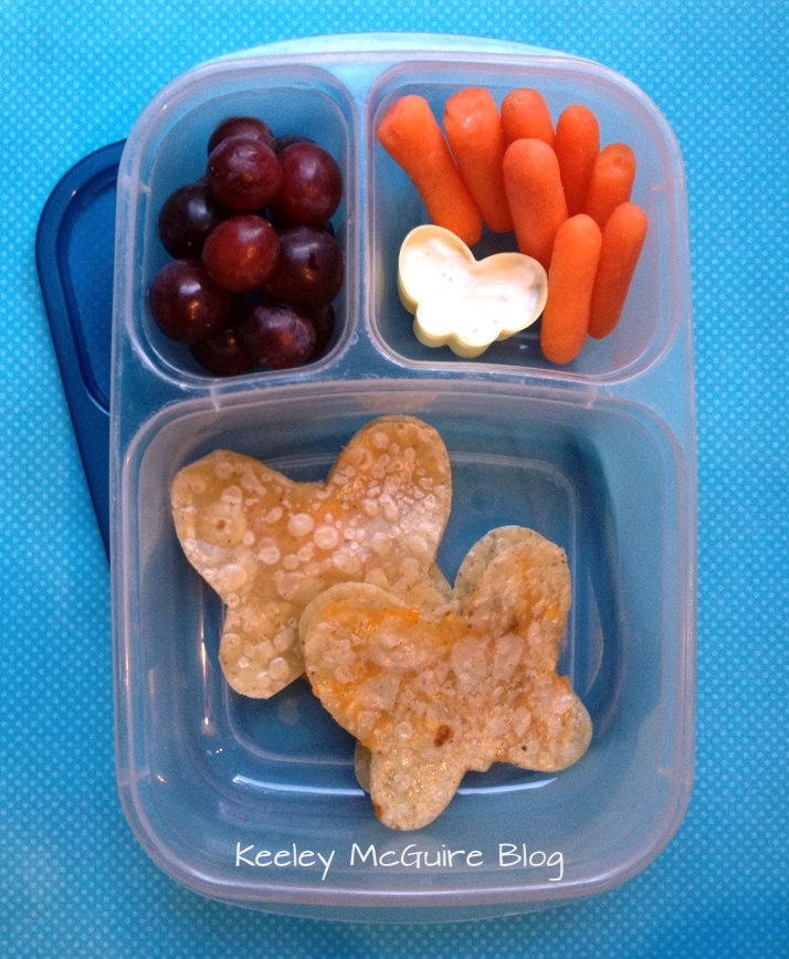 Lunch Made Easy: @MOMables Monday - Butterfly Quesadilla Bento  Fun School Lunchbox Idea for Kids