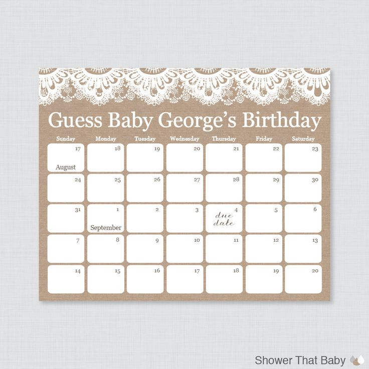 Burlap Baby Shower Birthday Predictions by ShowerThatBaby on Etsy