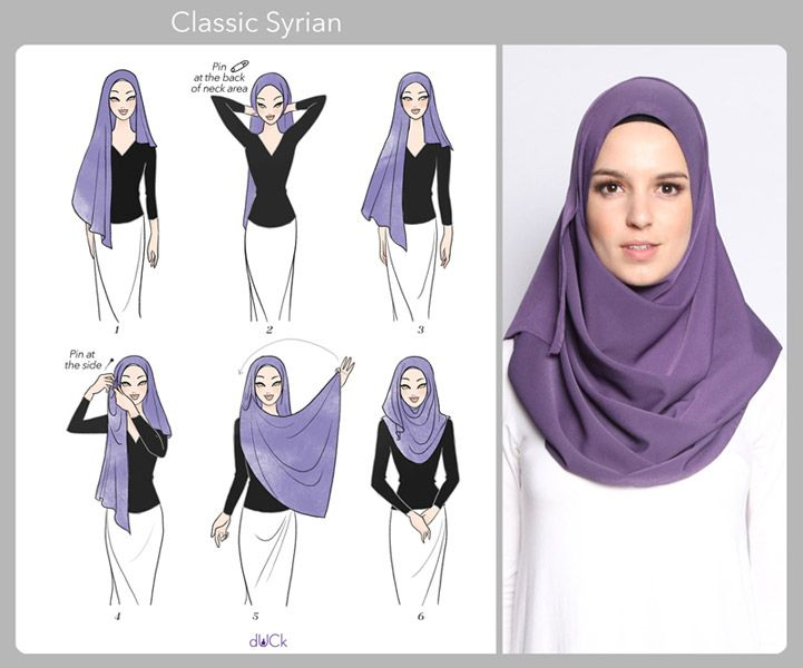 Classic Syrian Hijab Tutorial by duckscarves