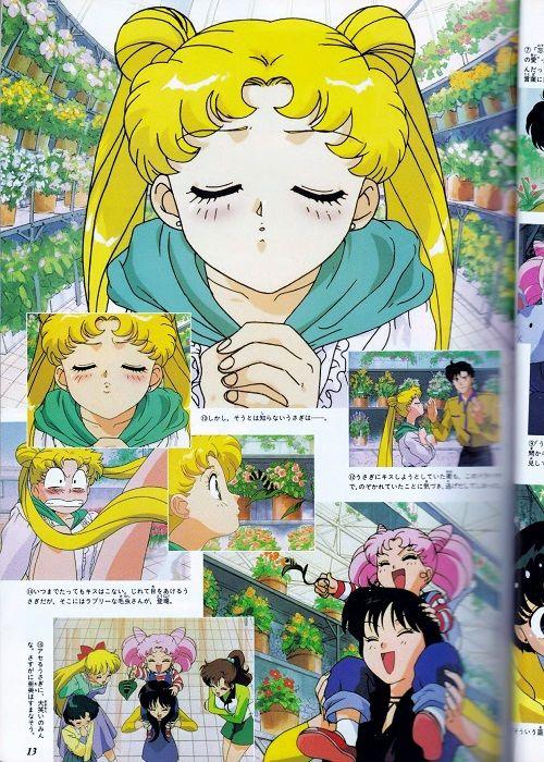 Sailor Moon R Movie Anime Click   RARE Sailor Moon R Art Book Naoko Takeuchi Japanese Anime Manga Movie ...