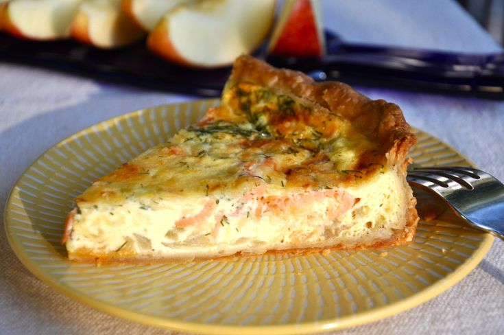I'll be making this tomorrow morning- though I think I'll sub shallots in instead of the onions. Can't wait! Savory Smoked Salmon, Dill and Gouda Pie from ThePieAcademy.com