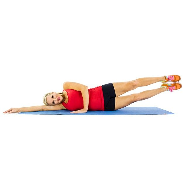 Work the outer thigh on one leg while working the inner thigh on the other during this simple lifting exercise.