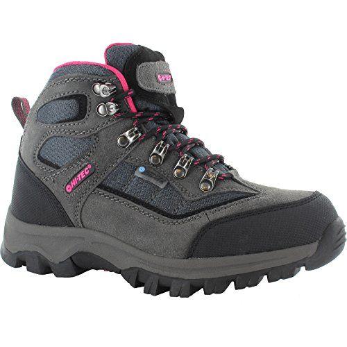 HI-TEC HILLSIDE WP Womens Waterproof Hiking Boots (6 US) (Grey/Hot Pink) Hi-Tec