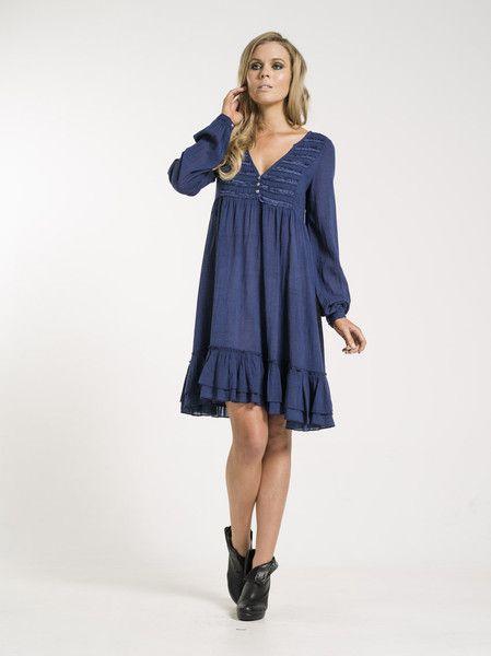 Alicia dress in blue from KAJA Clothing