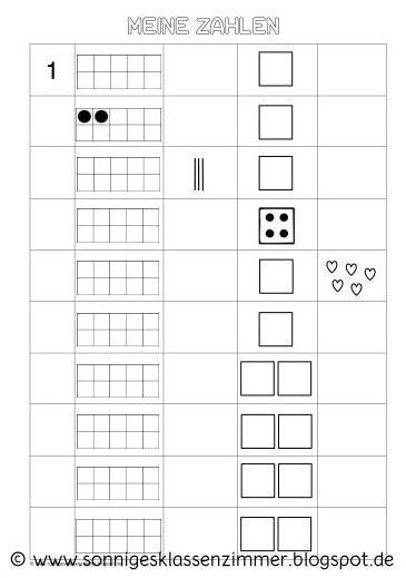 Arbeitsblatt Zahlen und Mengen | Mathe Klasse 1 | Pinterest ...