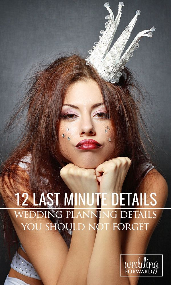 12 Last Minute Wedding Planning Details You Should Not Forget ❤ While preparing for your #wedding, you may get caught up in the excitement and forget to carry out essential tasks. Here are some of the important last minute wedding planning tasks #brides are likely to overlook. See more: http://www.weddingforward.com/father-daughter-wedding-dance-song-ideas/ #weddingplannig