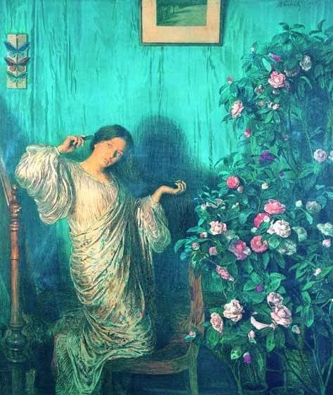 ⊰ Posing with Posies ⊱ paintings & illustrations of women & children with flowers - Max Svabinsky, 1873-1903